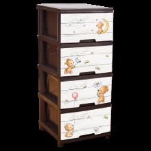 Шкаф с четири чекмеджета МЕЧЕТА / КАФЯВ