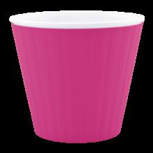Саксия ИБИС с двойно дъно 17,9 х 14,7см.розова/бяла