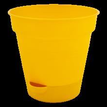 Саксия ГЛОРИЯ с полив 12см жълта