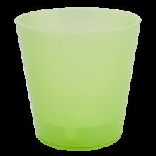 Саксия ДЕКО с двойно дъно 13,0х12,5 см.зелена прозрачна