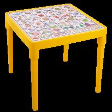 Детска маса Българска азбука жълта