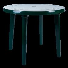 Пластмасова кръгла маса зелена