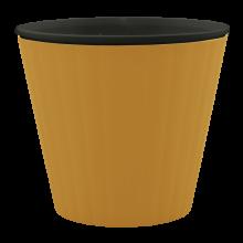 Саксия ИБИС с двойно дъно 17,9 х 14,7см.бронз/черна