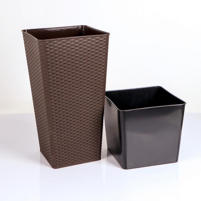 Саксия Ратан квадратна 22,0х22,0х41,5 см
