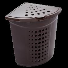 Кош за пране ъглов 45 литра т.кафяв