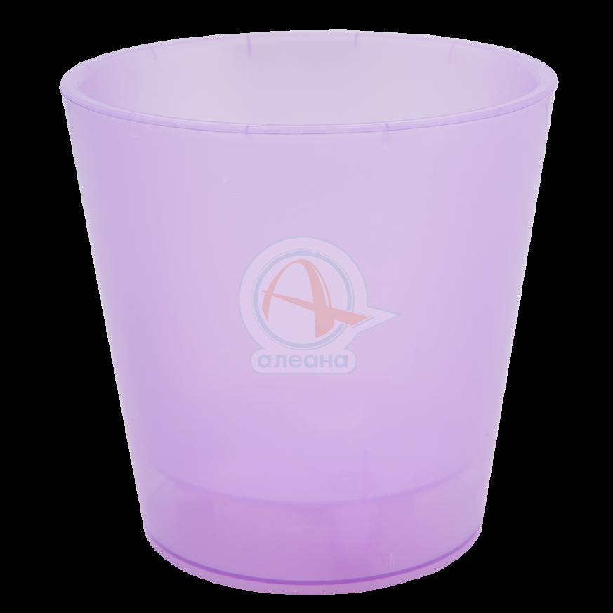 Саксия ДЕКО с двойно дъно 13,0х12,5 см.лилава прозрачна