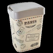Кош Евро за отпадъци с декор 10 л какао/Париж