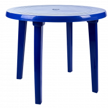 Пластмасова кръгла маса синя