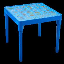 Детска маса Английска азбука синя