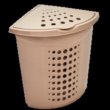 Кош за пране ъглов 45 литра кремав