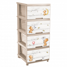 Шкаф с четири чекмеджета МЕЧЕТА / КРЕМ