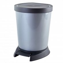 Кош за отпадъци с педал 10 л сив