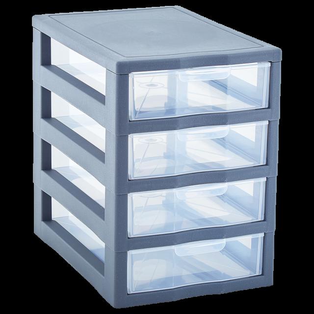Органайзер универсален с  4 чекмеджета