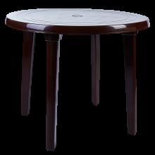 Пластмасова кръгла маса шоколад