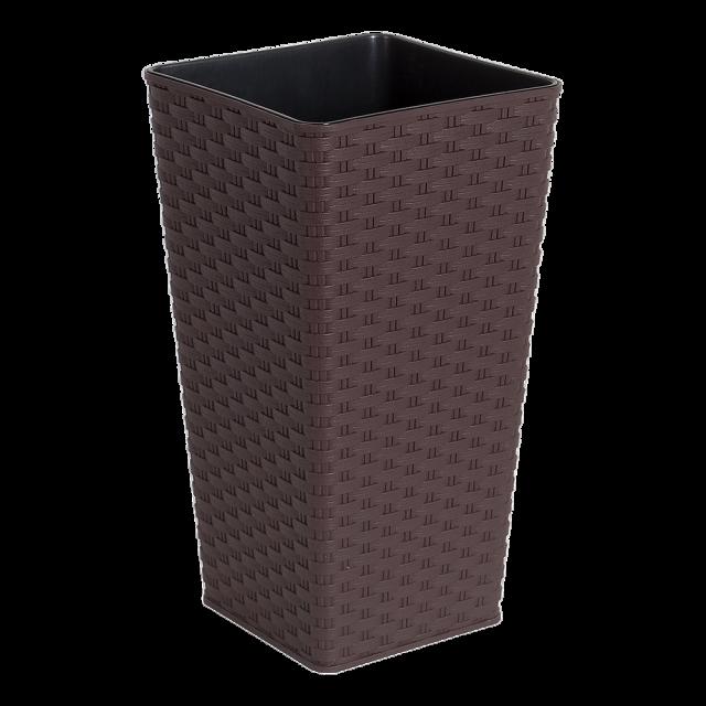 Висока саксия Ратан квадратна 22,0х22,0х41,5 см