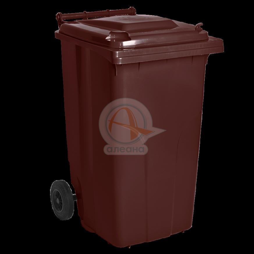 Контейнер за битови отпадъци 120 л кафяв