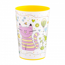 Чаша с декор 0,4 л MAGIC жълта