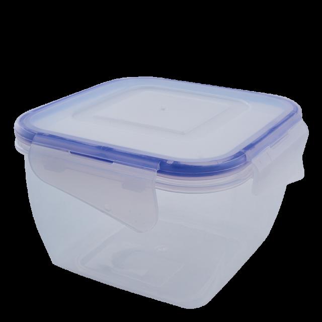 Кутия за хранителни продукти със закопчаване, квадратна 1,5л