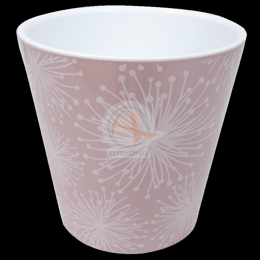 Саксия ДЕКО Etno flour с двойно дъно и декор 13,0х12,5 см фрезия