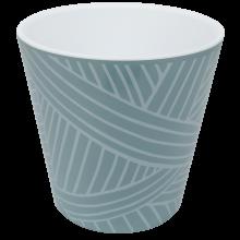 Саксия ДЕКО с двойно дъно и декор 13,0х12,5 см Etno loft гълъбово синя