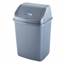 Кош за отпадъци 18 литра сив