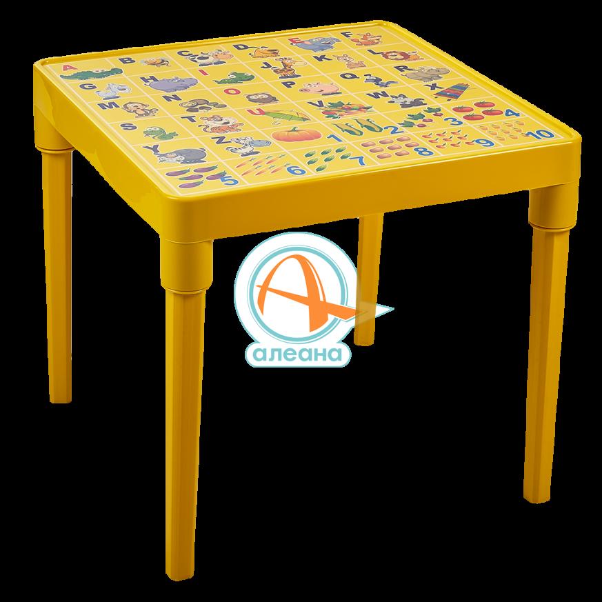 Детска маса  АНГЛИЙСКА АЗБУКА жълта