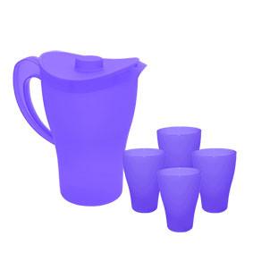 Комплект Кана с чаши прозрачен лилав