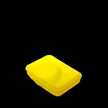 Контейнер универсален M жълт прозрачен