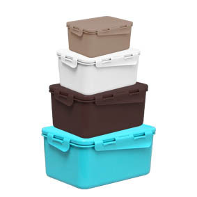 Пластмасови кутии комплект 5 бр. Винтидж