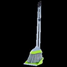 Комплект метла с лопатка ЕВРО олива / сив
