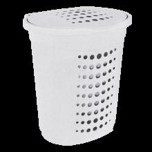 Кош за пране 60 л бял флок