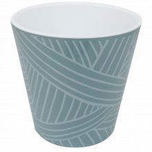 Саксия ДЕКО с двойно дъно и декор 16,0х15,5 см Etno loft гълъбово синя