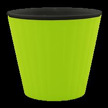 Саксия ИБИС с двойно дъно 13,0х11,2 см олива/черна