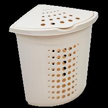 Кош за пране ъглов 45 литра бяла роза