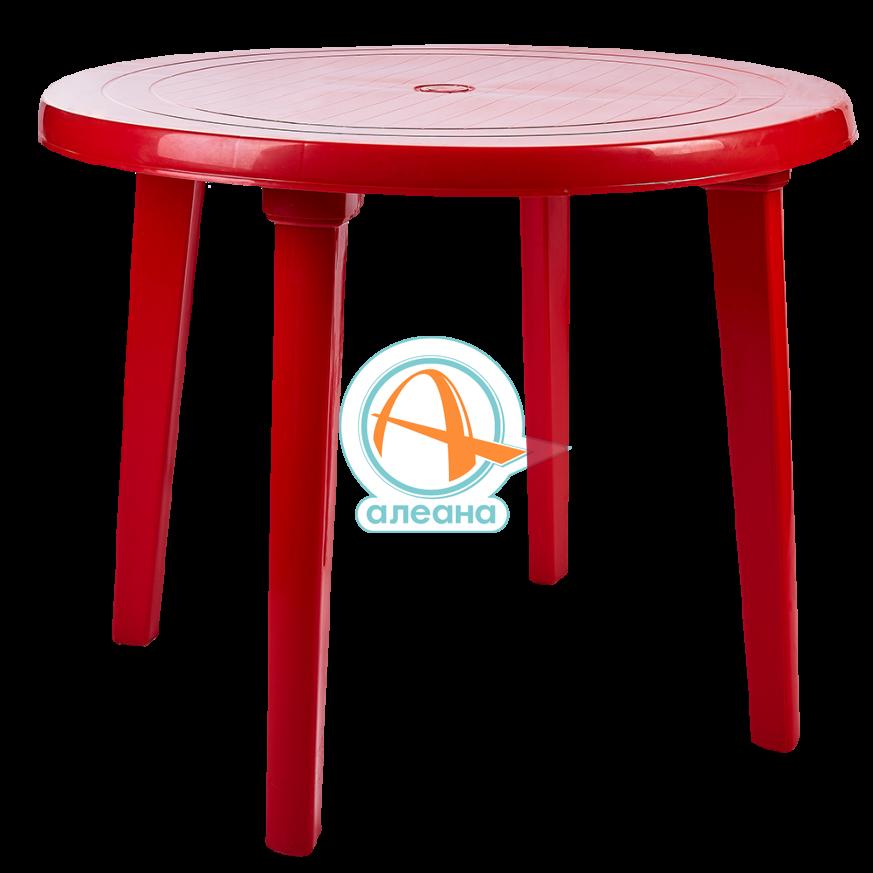 Пластмасова кръгла маса червена