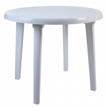 Пластмасова кръгла маса бяла