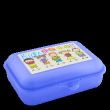 Кутия за сандвичи Smile лилава прозрачна