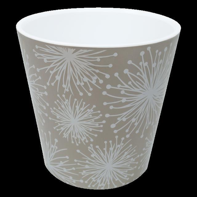 Саксия ДЕКО с двойно дъно и декор 16,0х15,5 см Etno flour