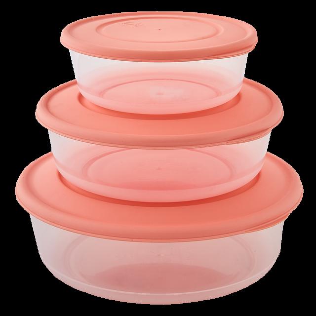 К-т контейнери за хранителни продукти 3 в 1, кръгли