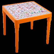 Детска маса Българска азбука оранж