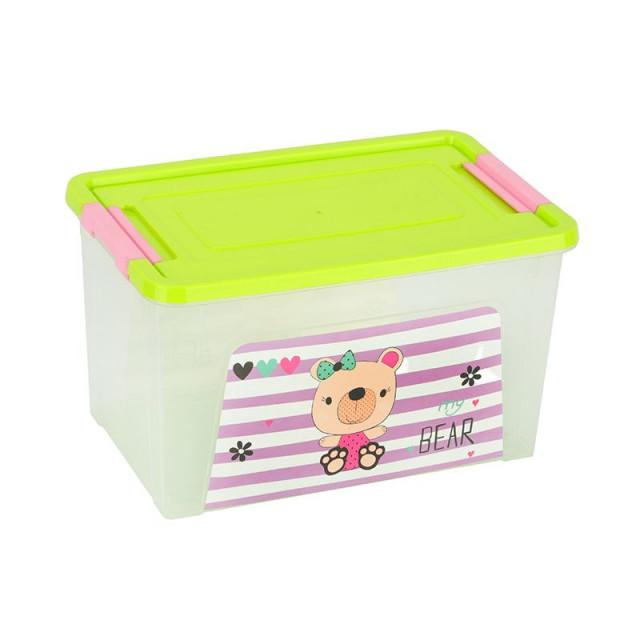 Контейнер пластмасов Smart Box с декор Pet Shop  7,9л.