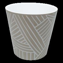 Саксия ДЕКО с двойно дъно и декор 16,0х15,5 см Etno loft какао