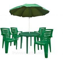 Комплект кръгла маса с четири стола Рекс
