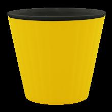 Саксия ИБИС с двойно дъно 17,9 х 14,7см. жълта/черна