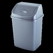 Кош за отпадъци 10 литра сив