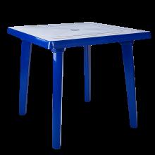Квадратна маса синя