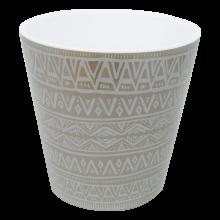 Саксия ДЕКО с двойно дъно и декор 16,0х15,5 см Etno ornament какао