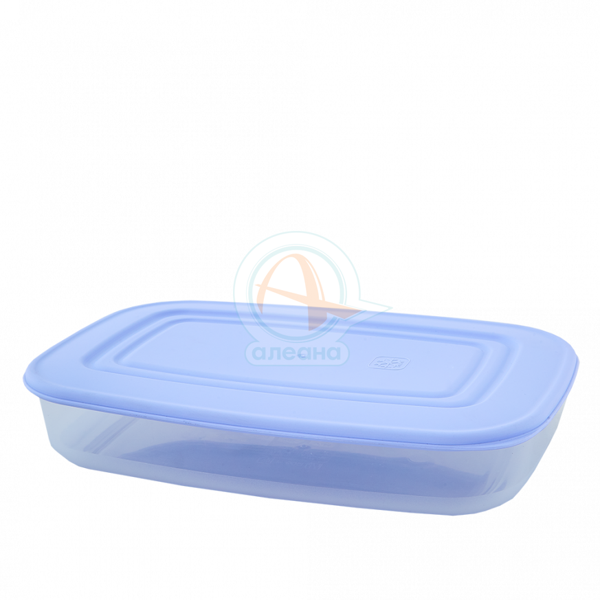 Кутия за хранителни продукти, правоъгълна, 1,5 л прозрачна/люляк