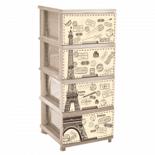 Шкаф с четири чекмеджета ПАРИЖ