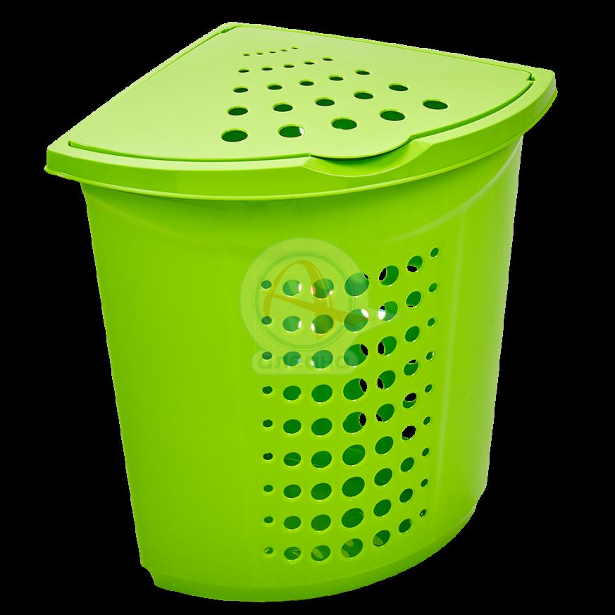 Кош за пране ъглов 45 литра олива